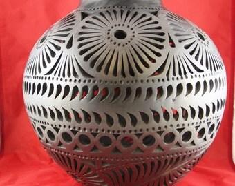 Vintage 1970s Mexican Oaxaca Barro Negro Pottery