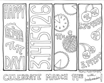Pi Day Bookmarks & Coloring Sheets