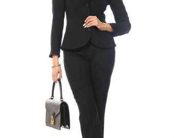 Ronda's Retro Two-Piece Classic Pant Suit Set