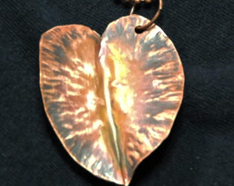 Form folded copper leaf
