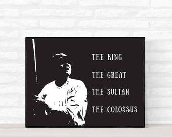 Babe Ruth Poster, Babe Ruth Nicknames Poster, Baseball Wall Art, The Great Bambino Poster, Gift for him, Man Cave Decortation