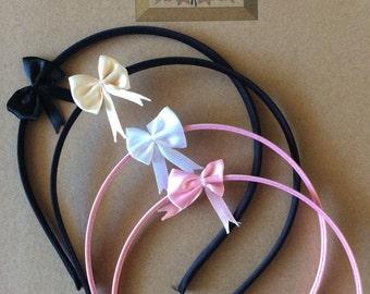 Black Bow Headband | Cream Bow Headband | White Bow Headband | Pink Bow Headband