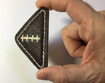 Handmade finger football game made from real leather