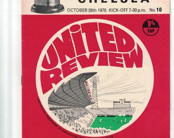 Manchester United versus Chelsea Football League Cup Comptition 4th Round Football Program
