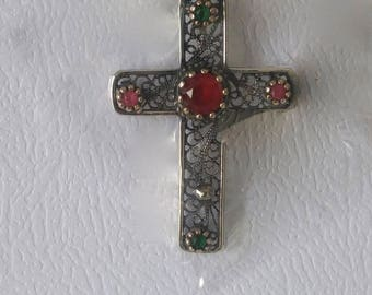 Red and green cross