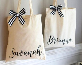 Personalized tote bags in vynil