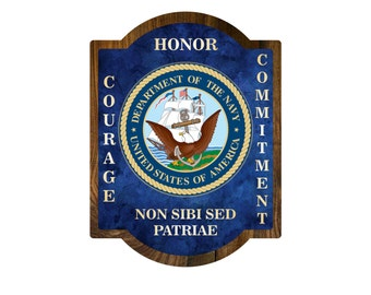 MILITARY PLAQUE Wooden Gift Retirement Promotion Veteran Wall Hanging Large Sign