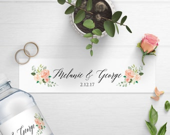 Water Bottle Labels, Wedding Welcome Bags, Destination Wedding, Wedding Favors, Waterproof Labels, Wedding Water Labels, Rustic Wedding