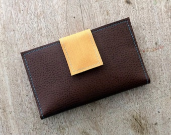 Vegan Leather Swatch Wallet, iPhone Case, Card Holder, handmade in Maine