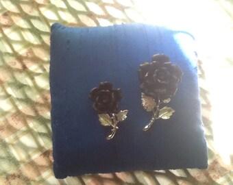 BLACK ROSE PIN set