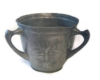 Kayserzinn pewter loving cup - Art nouveau - Three handles - Thoth - Egyptian Revival - 1920s -  Three handles