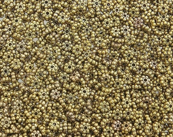 4x1.5mm Antique Gold Metal Daisy Spacer Beads - Qty 50 (G172) SE