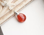 """Sunstone Necklace with Rainbow Moonstone on Sterling Silver - """"Sun and Moon"""" by CircesHouse on Etsy"""
