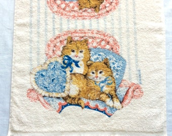 Cannon Terry Cloth Hand Towel Cats Kittens Pillows Franco