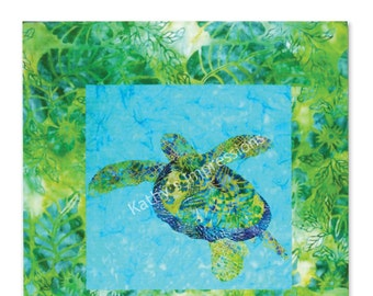 Tropical Honu SEA TURTLE Hawaii Ana Applique Quilt Pattern~ Paper Copy to be Shipped