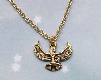 Winged Isis necklace, Egyptian Goddess