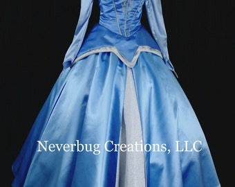 Sleeping Beauty Embroidered Custom Costume in Blue or Pink