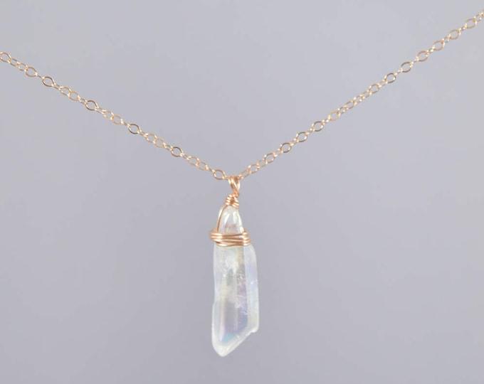 Quartz Crystal Small Clear Necklace, Quartz Crystal, Crystal Point, Crystal Necklace, Raw Quartz, Quartz Point, Crystal Quartz Jewelry