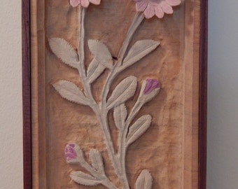 Wood Carving Wildflower, African Daisy, carved from a single block of wood and highlighted with acrylic paints, wood gift for any occasion