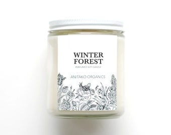 WINTER FOREST - Perfumed Soy Candle, Vegan, Natural Home Fragrance