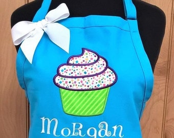 Personalized CupCake Apron Baking Cupcakes Kitchen Cooking Monogrammed Gift