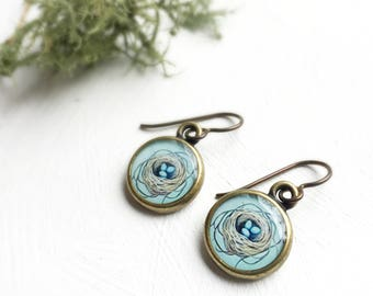 Bronze Nest Earrings