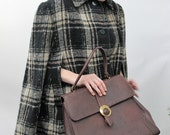 RESERVED 1960s Mahogony Brown Doctor's Style Handbag