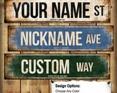 """Black Friday/Cyber Monday Custom // 1 Metal Street Sign // 5.5"""" x 22"""" // Personalized Gift"""