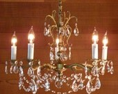Vintage Chandelier Lovely Antique Chandelier Spanish Craftsmanship 5 Lights a Zillion Crystal Prisms an Ornate Brass Beauty