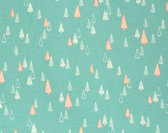 Japanese fabric with Christmas trees by Hokkoh - brushed cotton - 1/2 YD