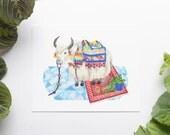 Yak 8x10 Art Print - Boho Party Animal Giclée Print