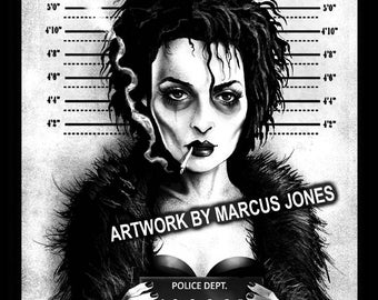 Gothic Art, Witchcraft, Occult , Witch , Goth, dark Art,  Marla Mugshot Art Print by Marcus Jones