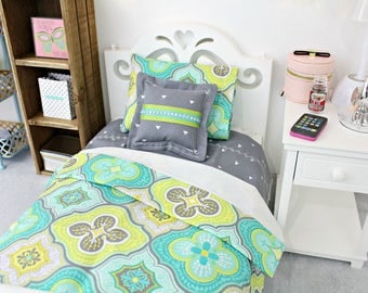 "18 inch Doll Bedding set made for 18"" American girl doll beds or similar dolls 