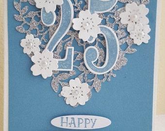 Happy 25th Anniversary Card  #ANV-1