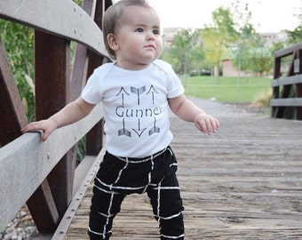 Name in Arrow Shirt, Aztec Top, Arrows Shirt, New Baby Gift, Going home outfit, Name Shirt, Personalized Arrows, Brother Shirts, Boho Top
