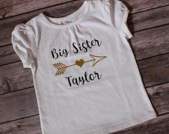Big Sister Shirt, Sister Arrow Shirt, Cousin Shirts, Bigger Cousin Top, Biggest Cousin, Little Cousin, Littlest Cousin, Uncle Shirt