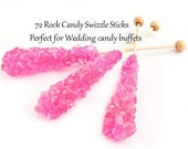 Rock Candy Swizzle Sticks, Cherry