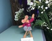 Ballerina needle felted mouse..