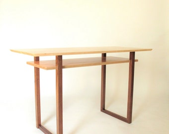 Wood Entry Table small narrow side table wood entry table console table