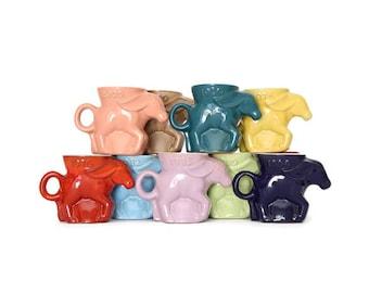 Frankoma Democratic Mug, Frankoma Political Mug, Frankoma Mug, Collectible Frankoma Mug, Collectible Frankoma Dem Mug, Frankoma Donkey Mug