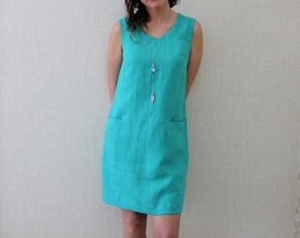 Sleeveless Linen Tunic Dress