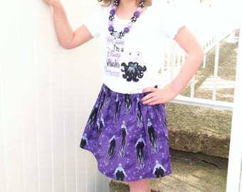 Ursula Skirt - Ursula Girls Skirt - Ursula Toddler Skirt - Villain Skirt - Little Mermaid Skirt