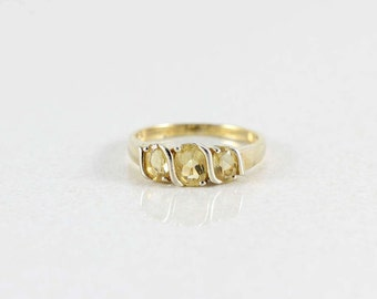 Gold over Sterling Silver Citrine Ring  size 10