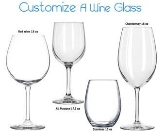 Customizable Wine Glass