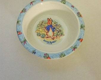 Vintage Peter Rabbit, Beatrix Potter Bowl Melamine Bowl