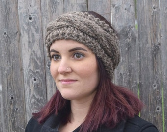 Chunky Knit Cable Headband // Braided Headband // The PATAGONIA in Barley (choose your color)