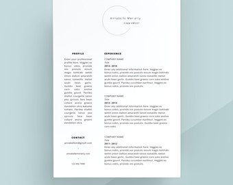 creative resume template cover letter cv template simple resume modern resume