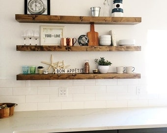 Wood Floating Shelves, Primitive Shelf, Floating Shelf