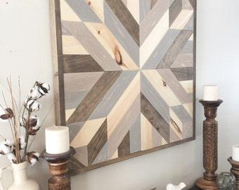 Reclaimed wood wall art, rustic wall decor, rustic barn star, farmhouse decor, modern wall decor, wooden decor, barn wood decor