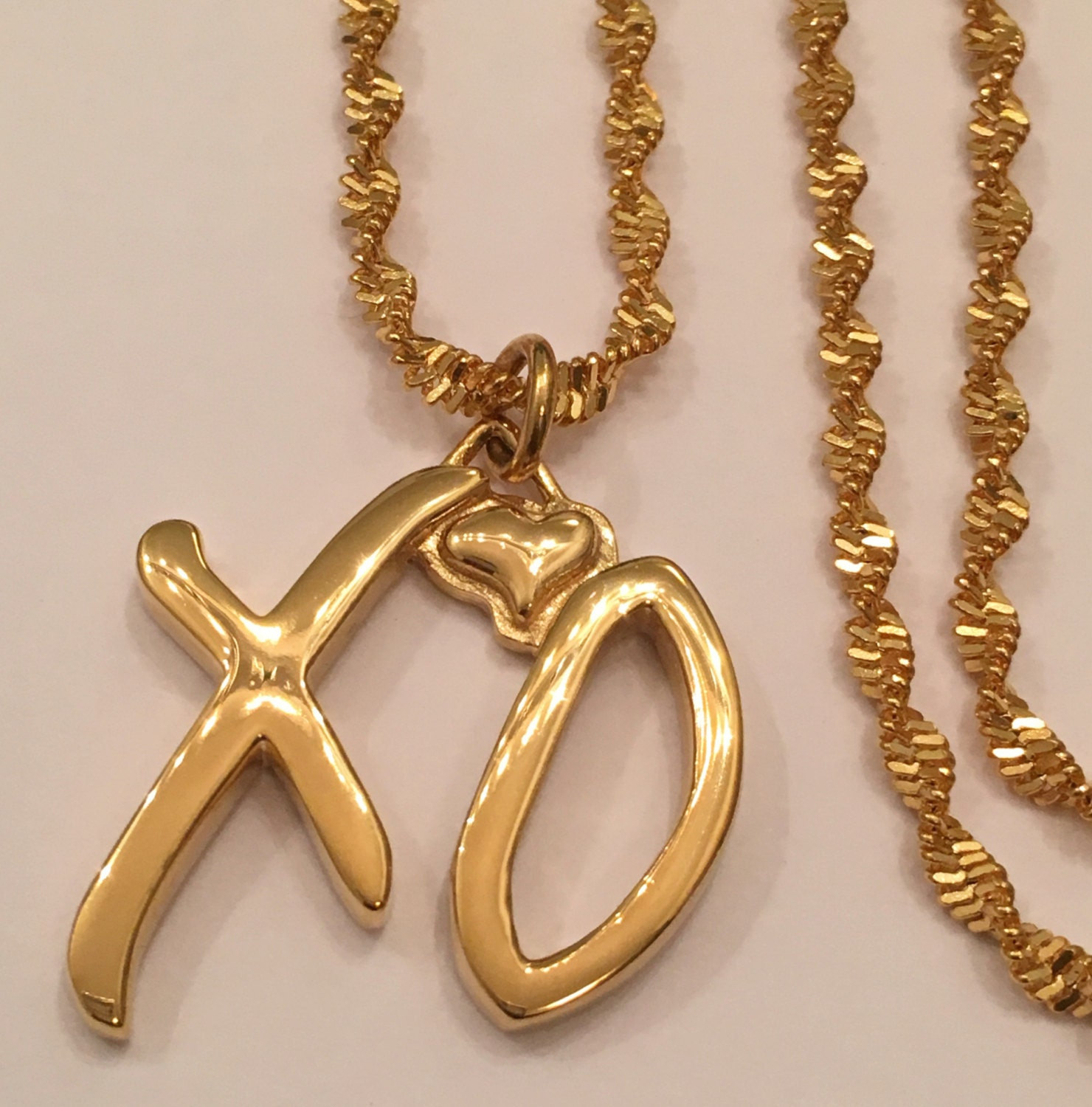 The Weeknd Xo Gang Necklace Men S 1 Small Gold By Xogangchain